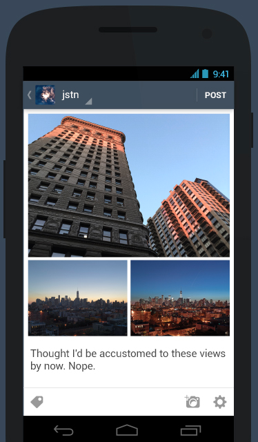 tumblr android update landscape