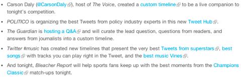 twitter custom timeline examples