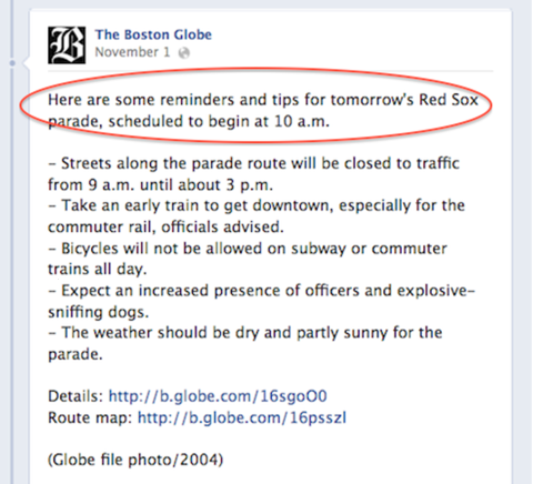 boston globe red sox parade post