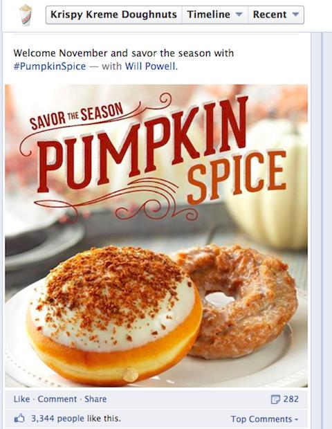 krispy kreme pumpkin post