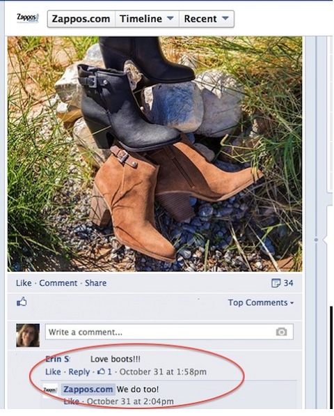 facebook engagement response