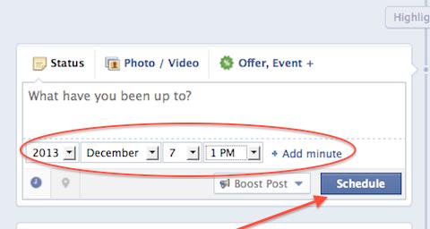 scheduled facebook post