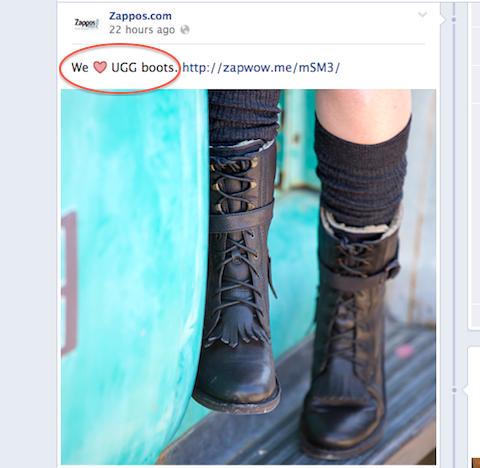 zappos emoticon post