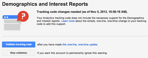 demographics setup