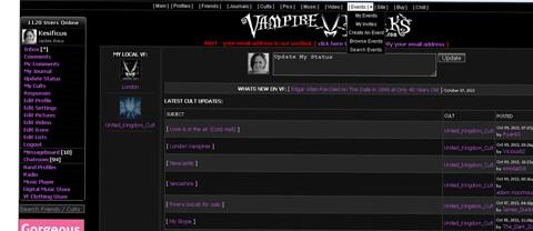 vampire freaks network