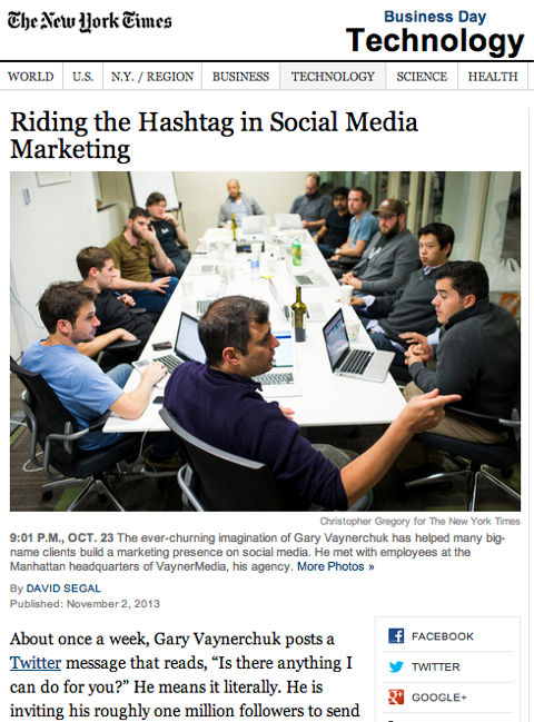new york times riding the hashtag