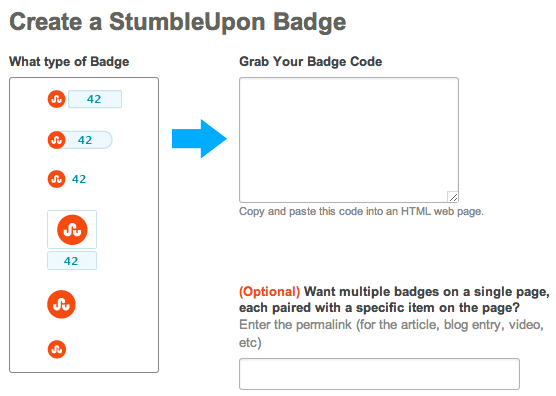 stumbleupon badge