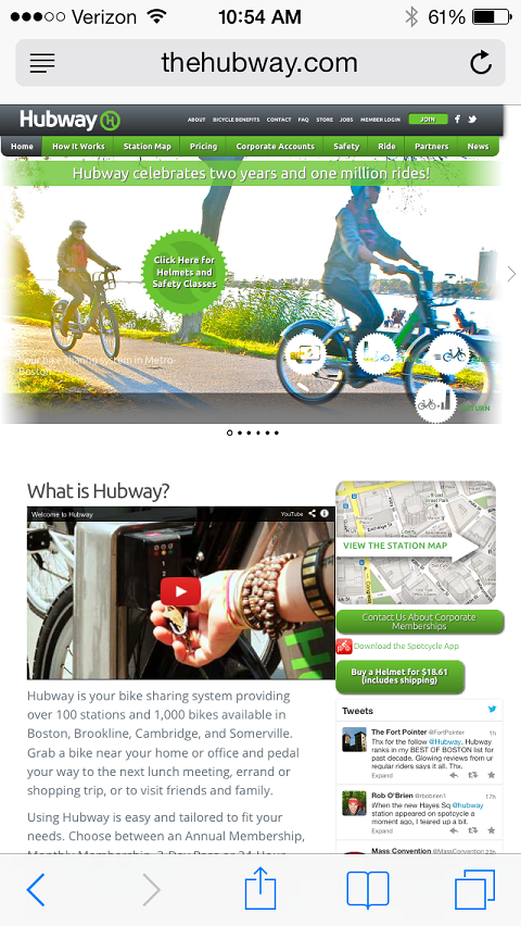 hubway mobile