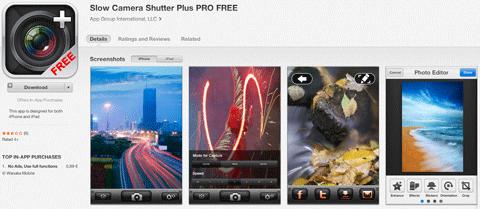 slow camera shutter plus app