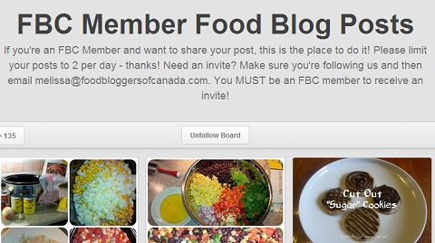 food bloggers of canada board