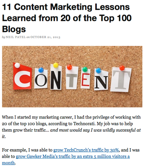 11 content marketing lessons