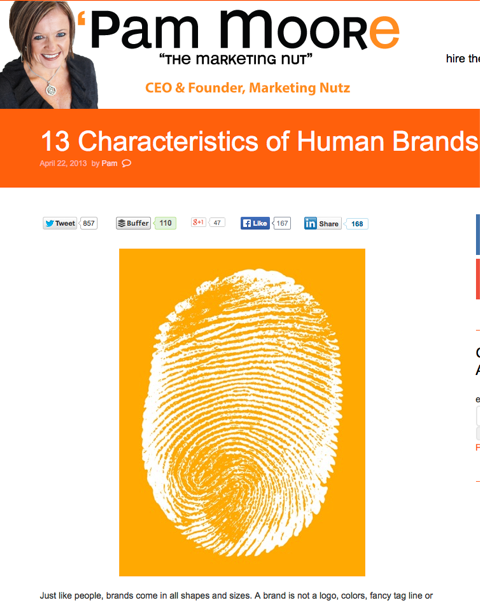 13 characteristics of human brands