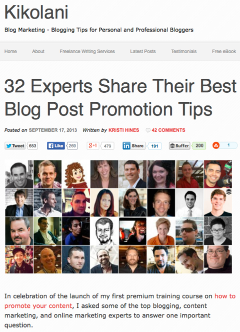 32 experts share their best blog post