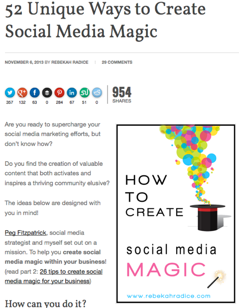 52 unique ways to create social media magic