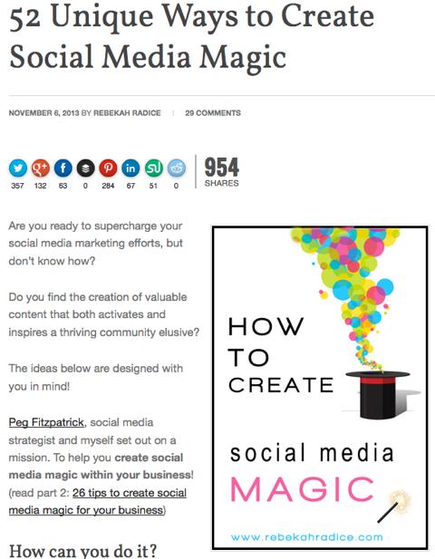 52 unique ways to create social media magic