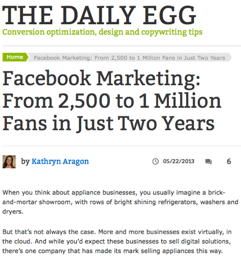facebook marketing the daily egg
