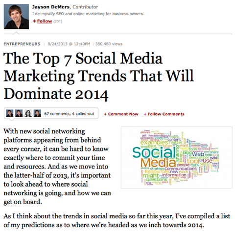 the top 7 social media marketing trends
