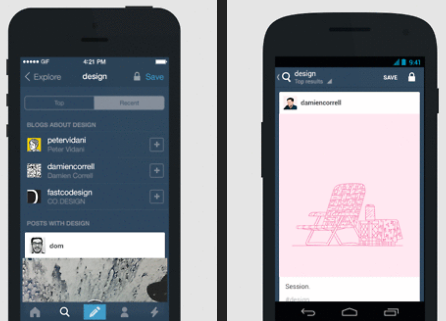 tumblr update mobile apps search