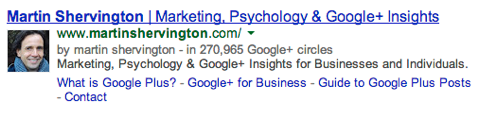martin shervington google authorship