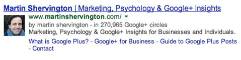 martin shervington google authorship
