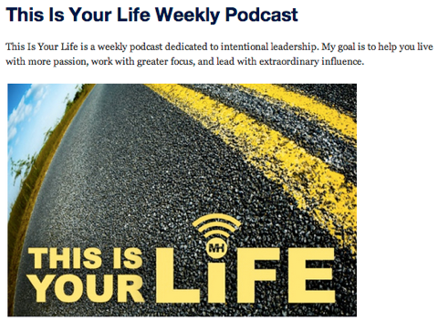 this is your life podcast show