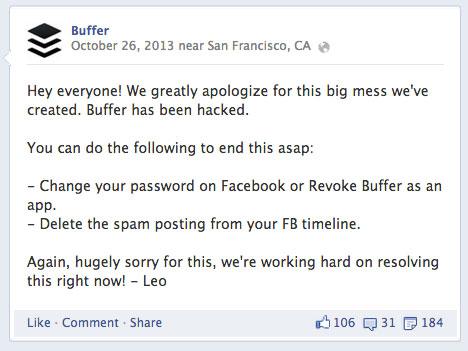 buffer facebook message