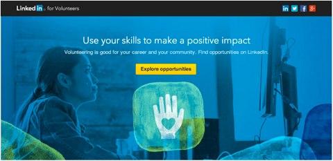 LinkedIn Freiwilligenmarkt