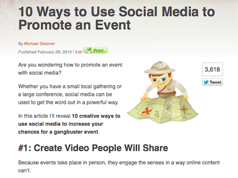 promote an event