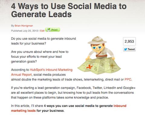 social media leads