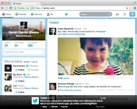 twitter web refresh look