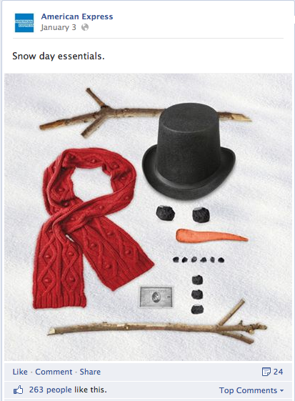 american express christmas facebook image