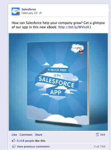 salesforce facebook ad