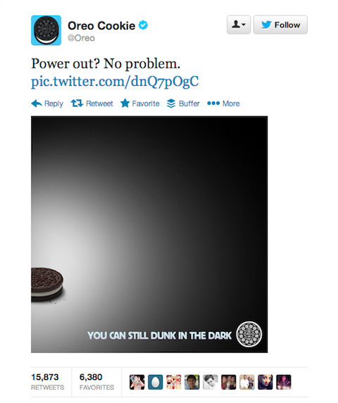 oreo superbowl tweet