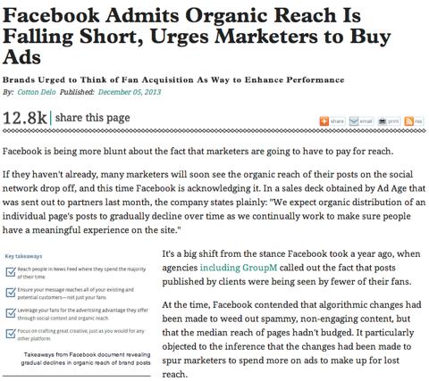 adage organic reach
