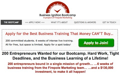 business ignition bootcamp