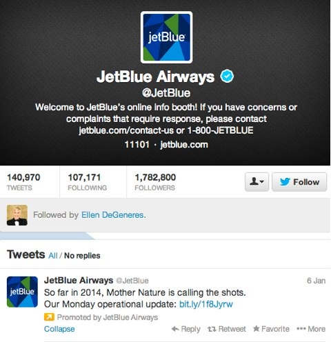 jetblue on twitter