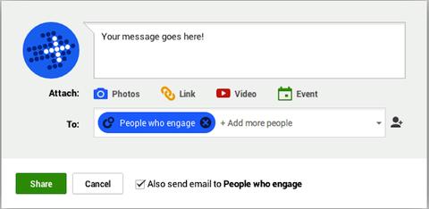 send a private email