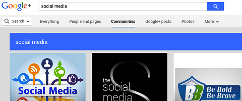 google+ community search