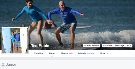 ted rubin about page facebook page