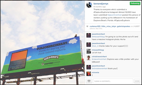 ben and jerry's instagram contest