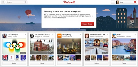 pinterest places boards