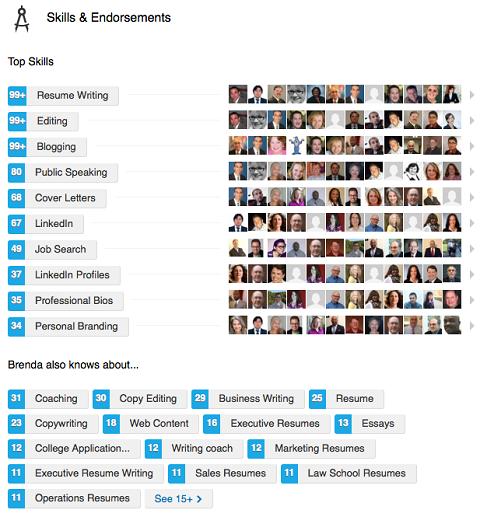 linkedin skills list