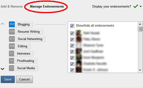 manage linkedin endorsements