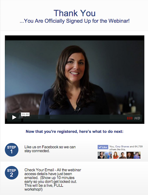 amy porterfield thank you page