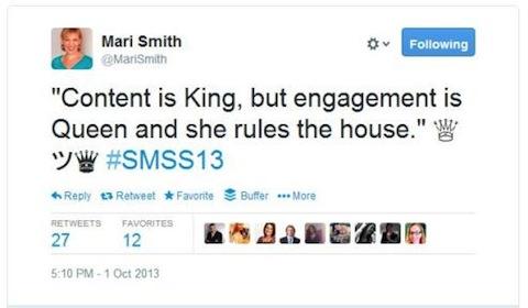 content is king tweet