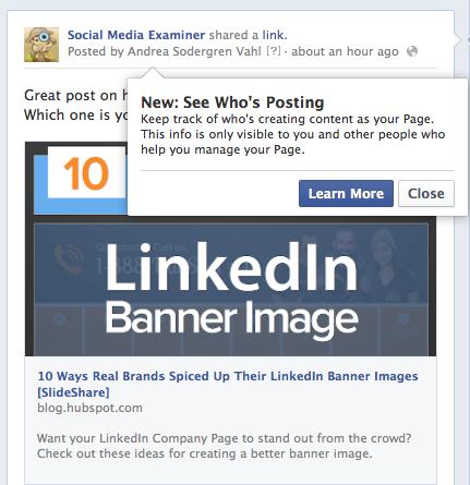 Facebook see who's posting