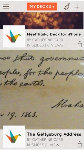 haiku deck for iphone