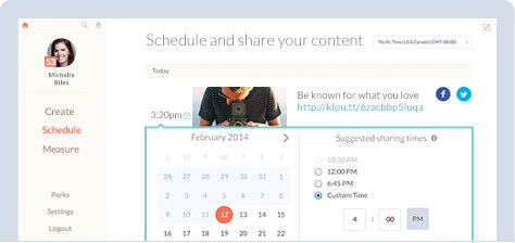 new klout scheduling