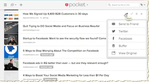 pocket on web
