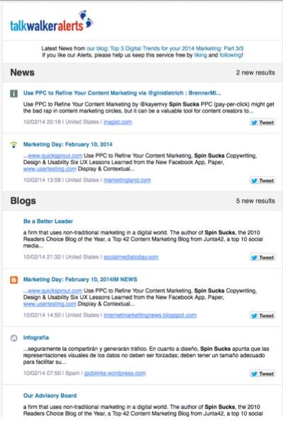 talkwalker news blogs